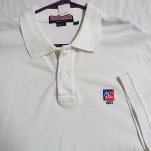Sz L White Vineyard Vines MENS Cotton #218 Polo